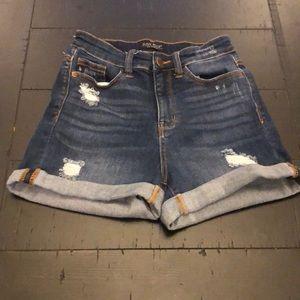 Judy Blue Cuffed Jean Shorts Sz Small